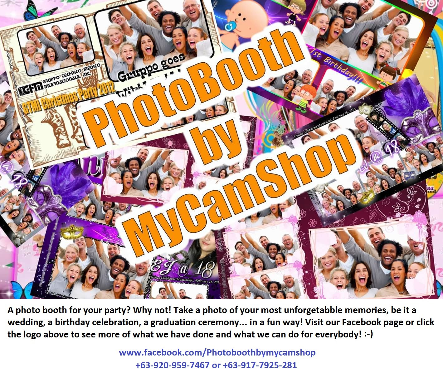 www.facebook.com/Photoboothbymycamshop